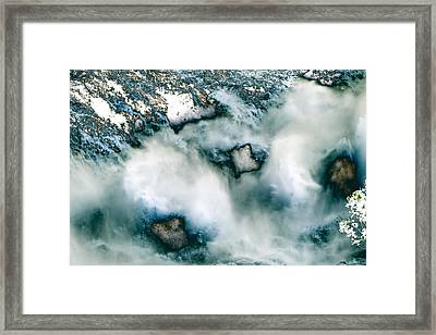 Waterfall 3 Framed Print by Valerie Wolf