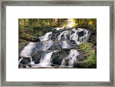 Framed Print featuring the photograph Waterfall by Anna Rumiantseva