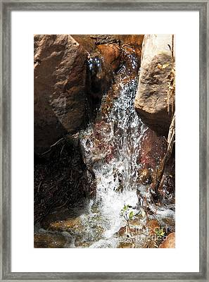Waterfall Framed Print by Ashiley Slaymaker