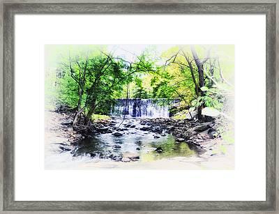 Waterfall At Gladwynn Framed Print