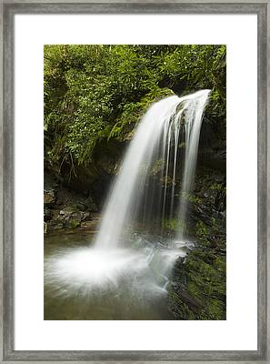 Waterfall At Springtime Framed Print by Andrew Soundarajan