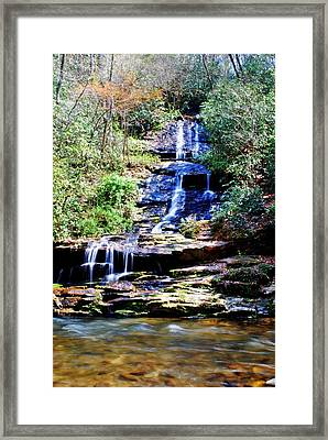 Waterfall Framed Print by Carrie Munoz
