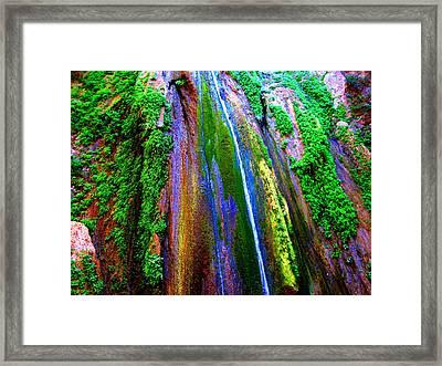 Waterfall  Framed Print by Catherine Natalia  Roche