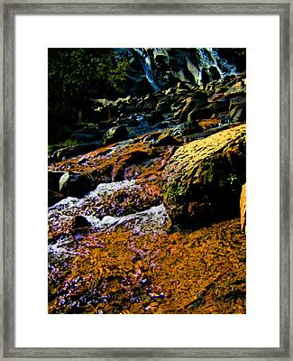 Waterfall  Framed Print by Howard Perry
