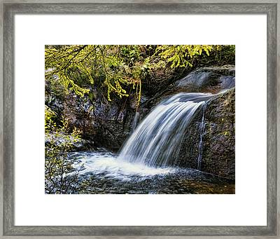 Framed Print featuring the photograph Waterfall by Hugh Smith