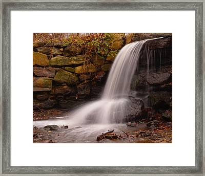 Waterfall In Cow Pasture Framed Print by Bedford Shore Photography