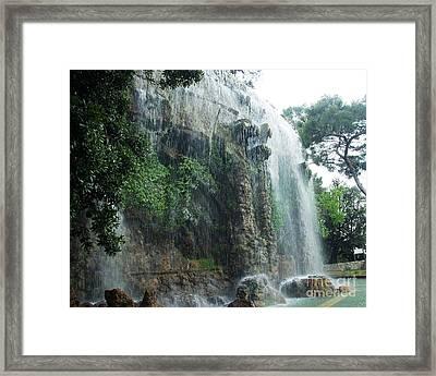 Waterfall In Nice Framed Print by Amalia Suruceanu