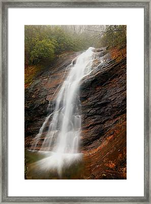 Framed Print featuring the photograph Waterfall In Wash Hollow by Doug McPherson