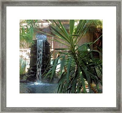 Waterfall Framed Print by Juliana  Blessington