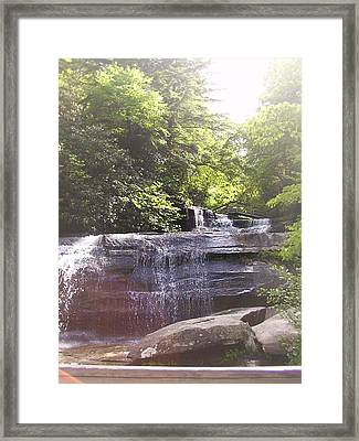 Framed Print featuring the photograph Waterfall by Kelly Hazel