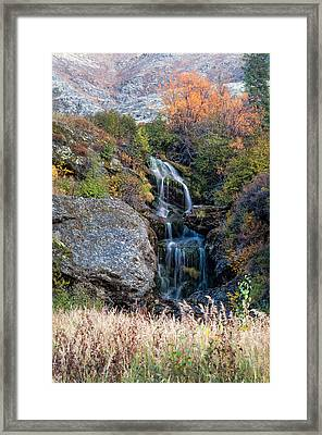Waterfall Marion Creek Framed Print by Gary Rose