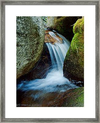 Waterfall Framed Print by Martin  Gollery