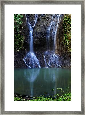 Framed Print featuring the photograph Waterfall- Micoud- St Lucia by Chester Williams