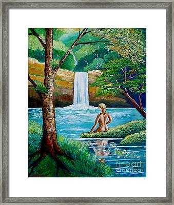 Waterfall Nymph Framed Print