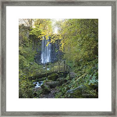 Waterfall Of Vaucoux. Puy De Dome. Auvergne. France Framed Print by Bernard Jaubert