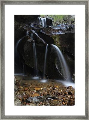 Framed Print featuring the photograph Waterfall On Emory Gap Branch by Daniel Reed