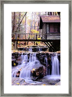 Waterfall On Friends Creek B  Framed Print by L Granville Laird