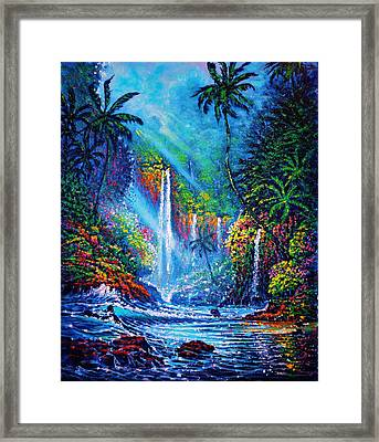 Waterfall  River Of Life Framed Print