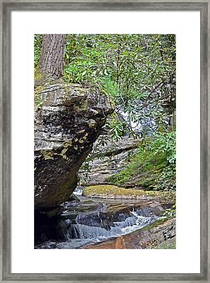 Waterfall Rock Framed Print by Susan Leggett