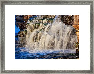 Framed Print featuring the photograph Waterfalls by Josef Pittner