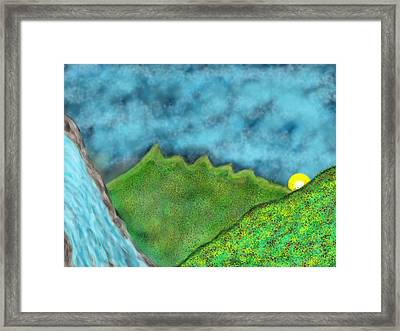 Waterfalls Framed Print by Mathieu Lalonde