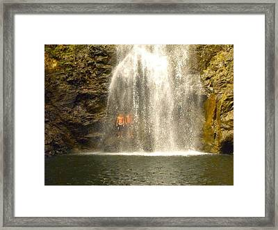Waterfalls Montezuma Costa Rica Framed Print