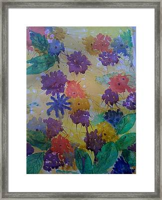 Waterflowers Framed Print