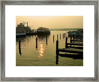 Waterfront Docks Framed Print by Steven Ainsworth