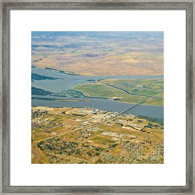 Waterfront Industrial Area Framed Print by Eddy Joaquim