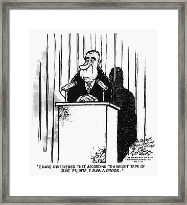 Watergate Scandal, 1974 Framed Print by Granger