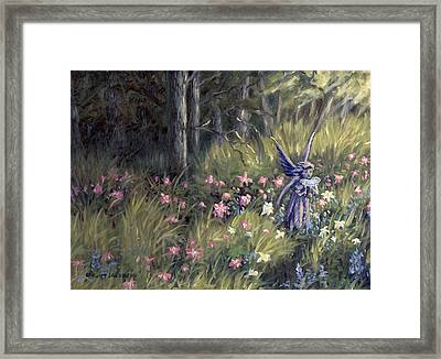 Watering The Flowers Framed Print by Kurt Jacobson