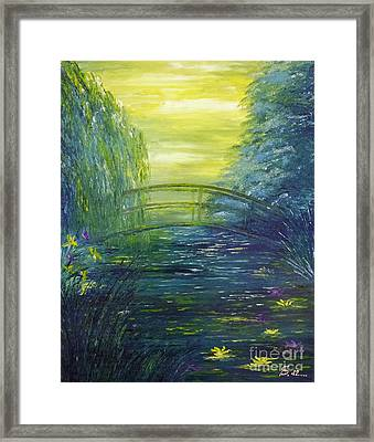 Waterlily Pond  Framed Print