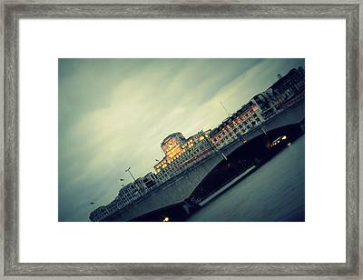 Waterloo Bridge Framed Print by Jacqui Collett