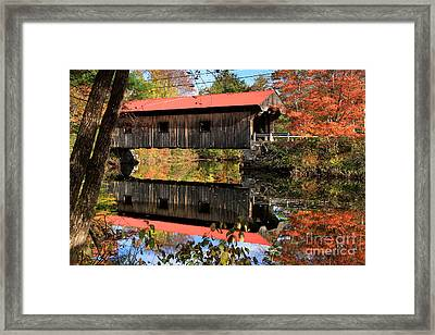 Waterloo Covered Bridge Framed Print by Butch Lombardi
