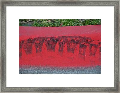Watermelon Curb Framed Print