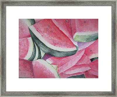 Watermelon Feast Framed Print