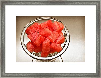 Watermelon Parfait 2 Framed Print by Andee Design