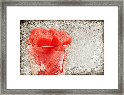 Watermelon Parfait 3 Framed Print by Andee Design
