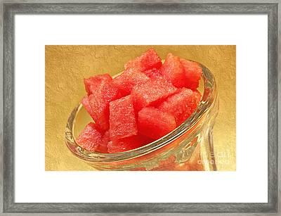 Watermelon Parfait Framed Print by Andee Design