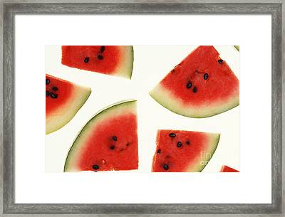 Watermelon Framed Print by Photo Researchers