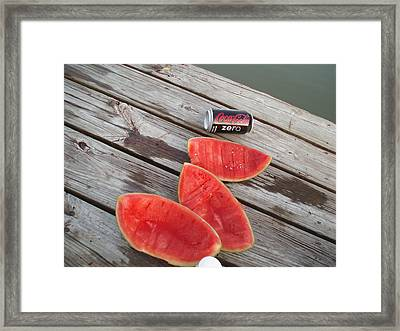 Watermelon Rinds Framed Print by Charles Weinacker