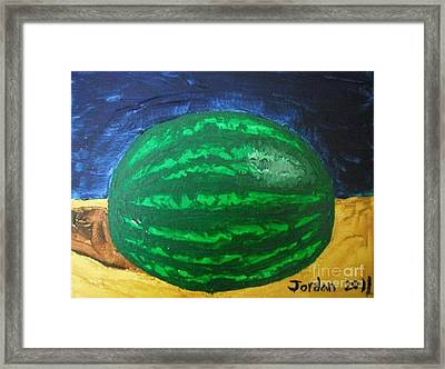 Watermelon Still Life Framed Print by Jeannie Atwater Jordan Allen