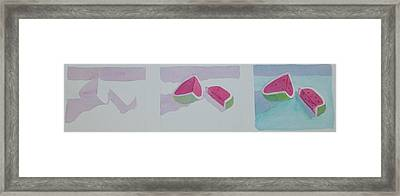 Watermelon Study Framed Print by Charlotte Hickcox