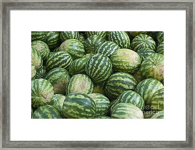 Framed Print featuring the photograph Watermelons by Andrew  Michael