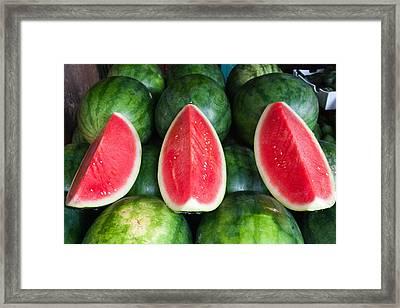 Watermelons Framed Print by Andrew W.B. Leonard