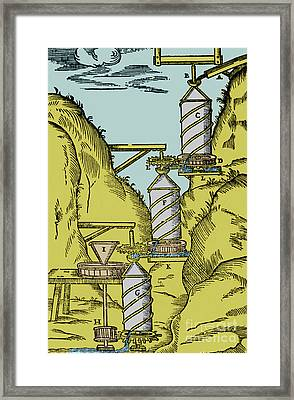 Watermill Reversed Archimedean Screw Framed Print by Science Source