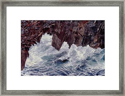 Framed Print featuring the photograph Water's Fury by Patricia Hiltz
