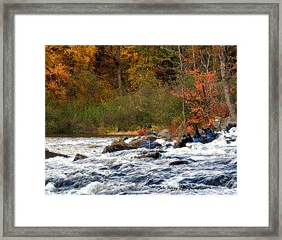 Waters Of Algonquin Framed Print