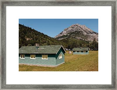 Framed Print featuring the photograph Waterton Camp Kitchens by Trever Miller