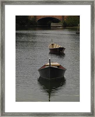 Waterway Boats Framed Print